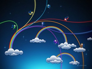 [www.wallgang.com] Fairy Rainbows  Wallpapers 1024x768